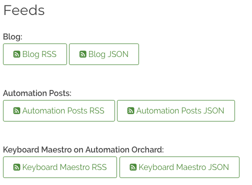 Automation Orchard RSS JSON Feed Screenshot Example